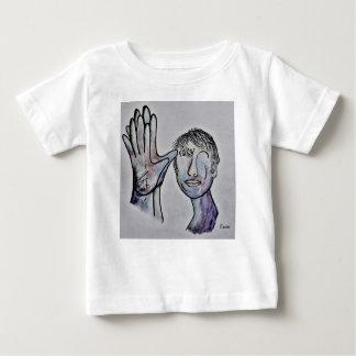 ASL Grandfather in Denim Colors Baby T-Shirt