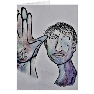 ASL Grandfather in Denim Colors Card
