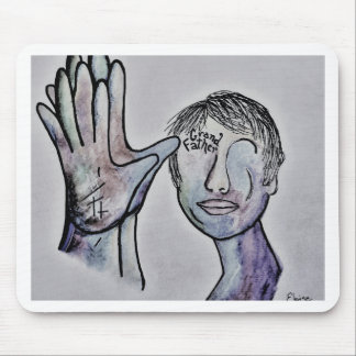 ASL Grandfather in Denim Colors Mouse Pad