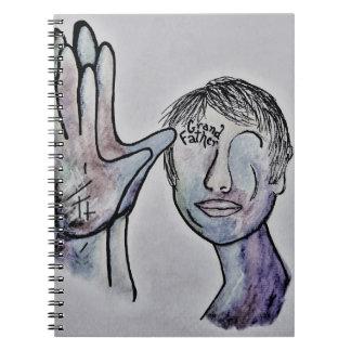 ASL Grandfather in Denim Colors Notebooks