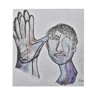 ASL Grandfather in Denim Colors Notepad