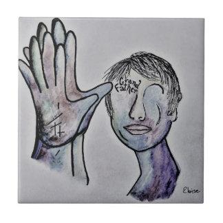 ASL Grandfather in Denim Colors Tile