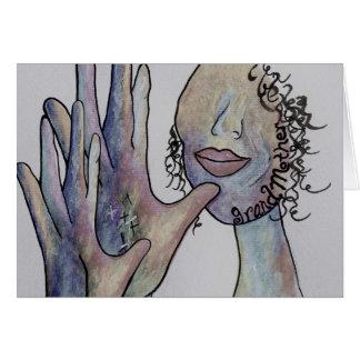 ASL Grandmother in Denim Colors Card