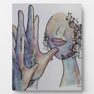 ASL Grandmother in Denim Colors Plaque