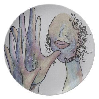 ASL Grandmother in Denim Colors Plate