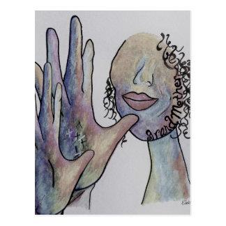 ASL Grandmother in Denim Colors Postcard