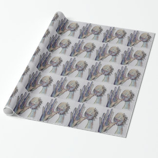 ASL Grandmother in Denim Colors Wrapping Paper
