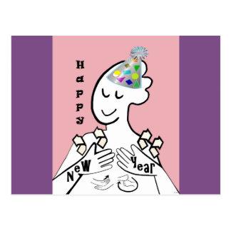 ASL Happy New Year Postcard