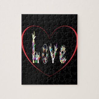 ASL Heart Full of Love Jigsaw Puzzle