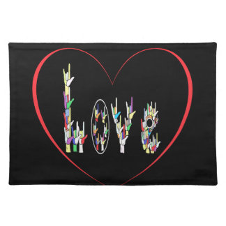 ASL Heart Full of Love Placemat