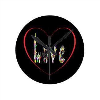 ASL Heart Full of Love Round Clock