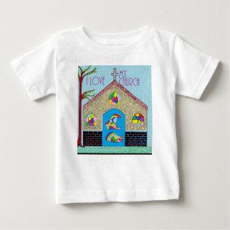 ASL I Love my Church Baby T-Shirt
