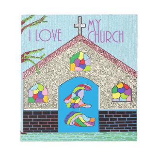 ASL I Love my Church Notepad