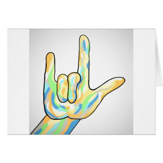 ASL I Love You Gray Card