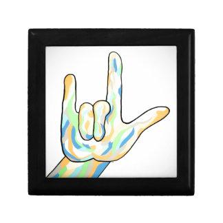 ASL I Love You Gray Gift Box