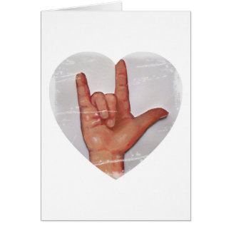 "ASL ""I LOVE YOU"" HEART SHAPE #2 CARD"
