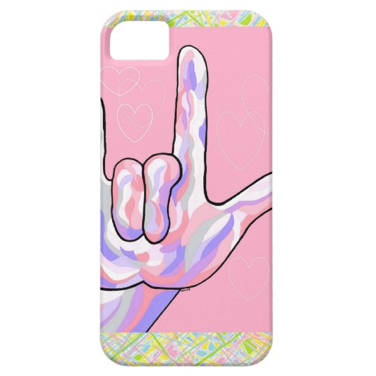 ASL I Love You in PINK iPhone 5 Covers