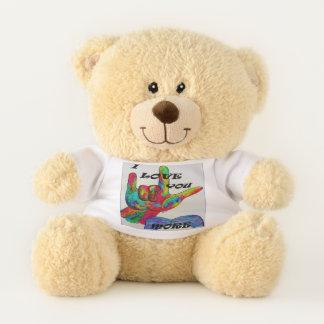 ASL I Love You MORE Teddy Bear