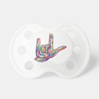 ASL I Love You Muted Tones Pacifier