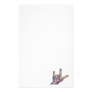 ASL I Love You Muted Tones Stationery