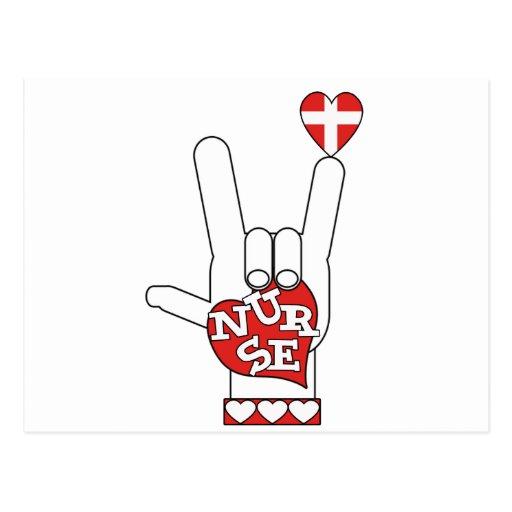 ASL I Love YOU Sign Language - HAND HEART NURSE | Zazzle