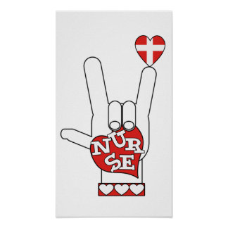 ASL I Love YOU Sign Language - HAND HEART NURSE
