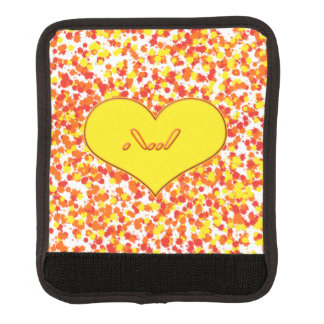 ASL-I Love You with Heart by Shirley Taylor Luggage Handle Wrap