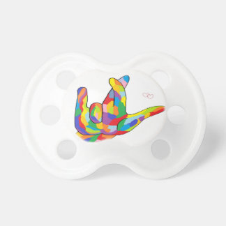 ASL I Really Love You Bright Colors Pacifier