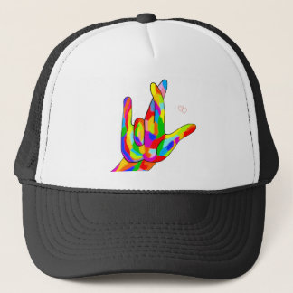 ASL I Really Love You Bright Colors Trucker Hat
