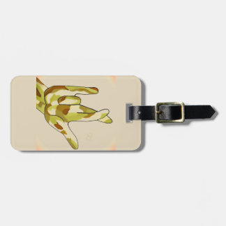ASL I Really Love You Camouflage Luggage Tag