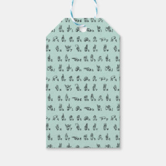 ASL Jade // American Sign Language Alphabet Gift Tags