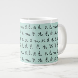ASL Jade // American Sign Language Alphabet Large Coffee Mug