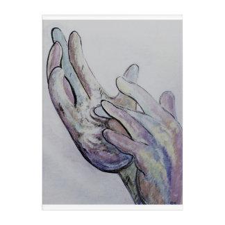 ASL Jesus Denim Coloring Acrylic Print
