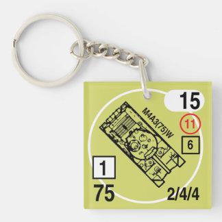 ASL M4A3(75)W Keychain Fob