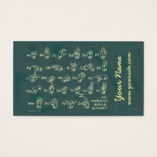ASL Manual Alphabet Business Card