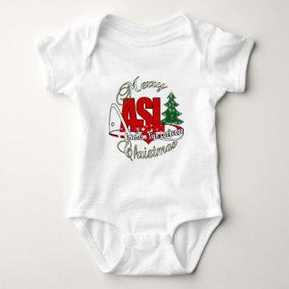ASL MERRY CHRISTMAS - AMERICAN SIGN LANGUAGE BABY BODYSUIT