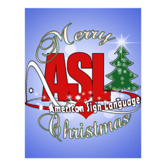 ASL MERRY CHRISTMAS - AMERICAN SIGN LANGUAGE LETTERHEAD