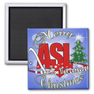 ASL MERRY CHRISTMAS - AMERICAN SIGN LANGUAGE MAGNET