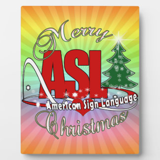 ASL MERRY CHRISTMAS - AMERICAN SIGN LANGUAGE PLAQUE