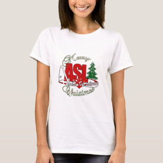 ASL MERRY CHRISTMAS - AMERICAN SIGN LANGUAGE T-Shirt