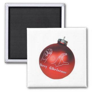 ASL Merry Christmas Magnet