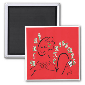 ASL Merry Christmas Magnet