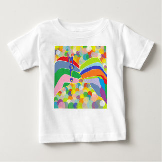 """ASL """"MORE"""" on a Bright Bubble Background Baby T-Shirt"""