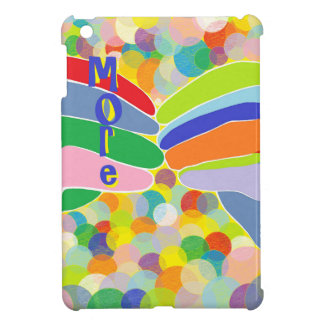 """ASL """"MORE"""" on a Bright Bubble Background Cover For The iPad Mini"""