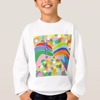 """ASL """"MORE"""" on a Bright Bubble Background Sweatshirt"""
