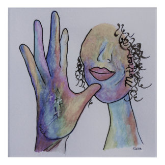ASL Mother Denim Coloring Acrylic Wall Art