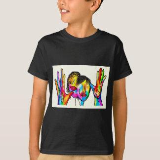 ASL Mother Father Portrait T-Shirt