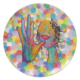 ASL Mother on a Bubble Background Plate