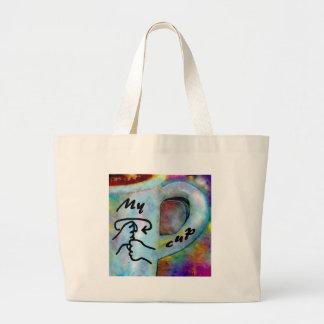 ASL My Coffee Cup Large Tote Bag