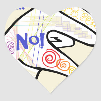 ASL Oh NO Heart Sticker